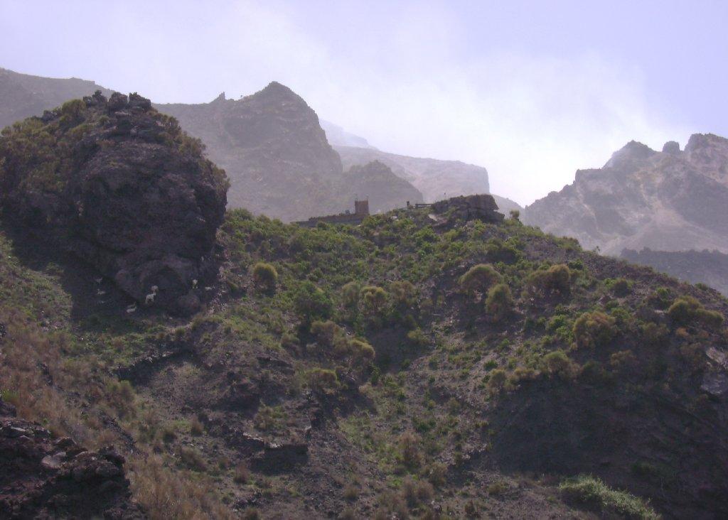 Stromboli: Blick auf die Krater von der Quota 400]