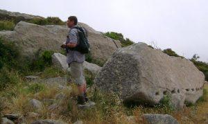 Im antiken Steinbruch oberhalb des Vallebuia