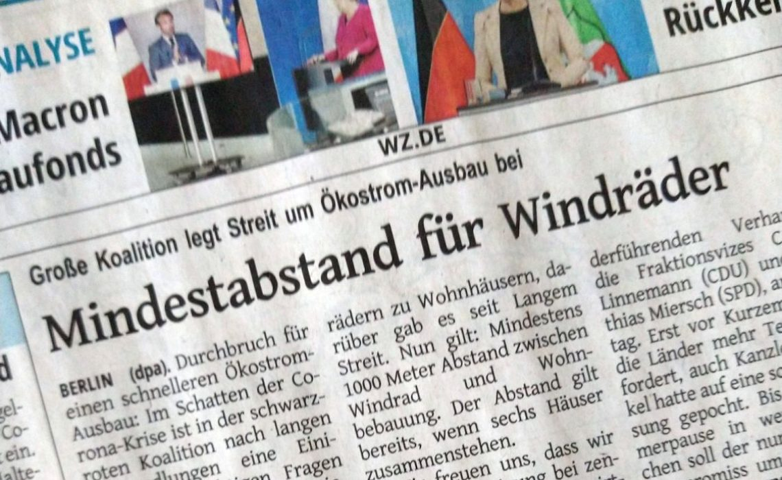 Mindestabstand für Windräder